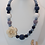 Thumbnail: Steel Blue and Beige Silicon Rose Bubblegum Necklace