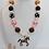 Thumbnail: Pink & Brown Horse Bubblegum Necklace