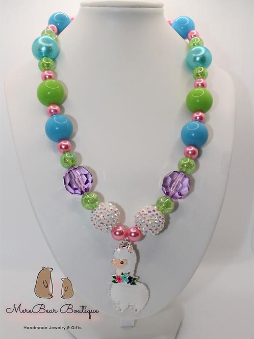 Happy Llama Bubblegum Necklace