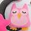Thumbnail: Pink Felt Owl, Stars & Moon Set