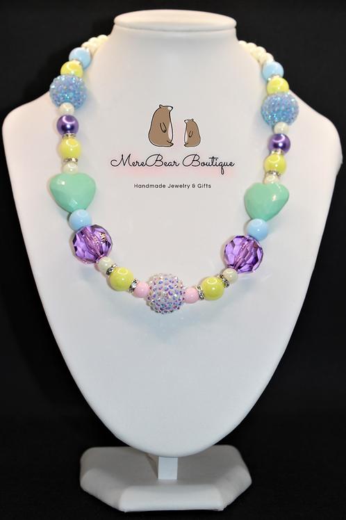 Easter Bubblegum Bead Necklace