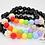 Thumbnail: Rainbow and Clouds Stretchy Bubblegum Bead Bracelet