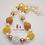 Thumbnail: Yellow & Ivory Sunflower Bubblegum Bead Necklace