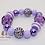 Thumbnail: Purple Bubblegum Bead Bracelet