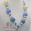 Thumbnail: Pastel Blue Fish Bubblegum Bead Necklace