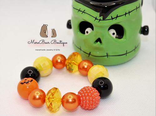 Jack O Lantern Bubblegum Bracelet