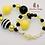 Thumbnail: Bee Kind Bubblegum Bead Bracelet Set