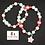 Thumbnail: Pink Flower Charm Bubblegum Bead Bracelet Set