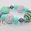 Thumbnail: Mint Heart Bubblegum Bead Bracelet