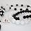Thumbnail: Dalmatian Bubblegum Bead Necklace & Bracelet Set