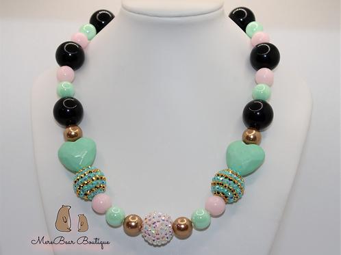 Mint & Gold Bubblegum Necklace