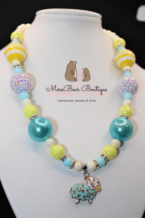 Easter Lamb Bubblegum Necklace