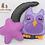 Thumbnail: Purple Owl, Moon and Star Set