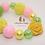 Thumbnail: Pink & Yellow Sunflower Bubblegum Bead Bracelet