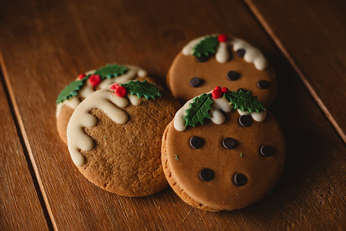 Gingerbread Xmas Pudding Cookies Recipe Card