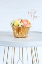 Floral Piped Buttercream Cupcakes