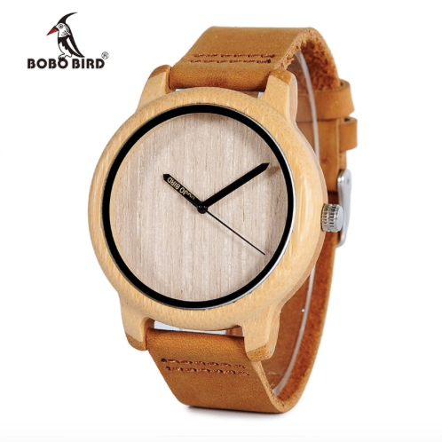 Men Watch Wooden Bamboo Wristwatch