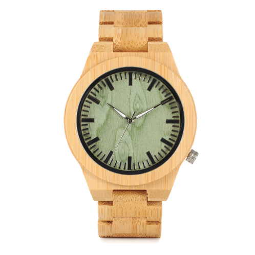 Men's Bamboo Wood Wristwatch