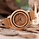 Thumbnail: Wood Watch Male Vintage Deer Head Skeleton Design Watch