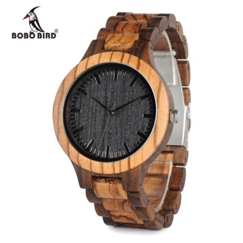 Men Watch Zabra Wooden Timepieces Quartz
