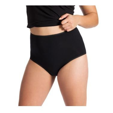 Vista frontal braga incontinencia a cintura señora algodón