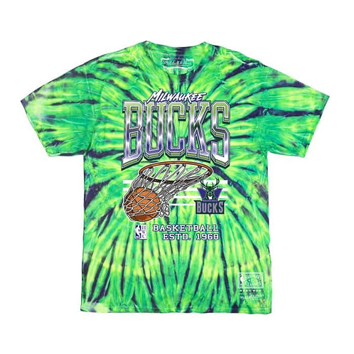 Mitchell & Ness Neon Swish Tee Milwaukee Bucks