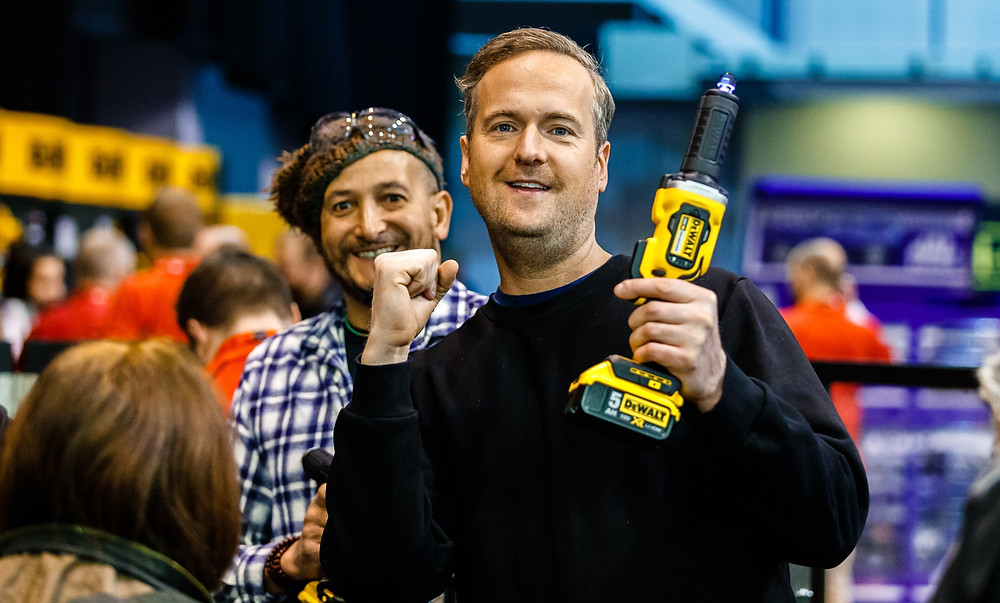 Tim and Fuzz at Tool Fair