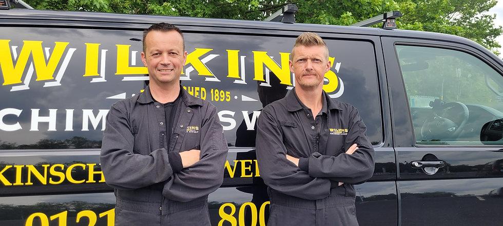 Midlands chimney sweeps in front of van.jpg