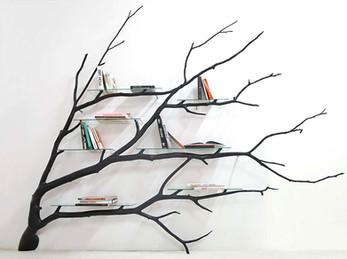 Fallen Tree Branch Shelf