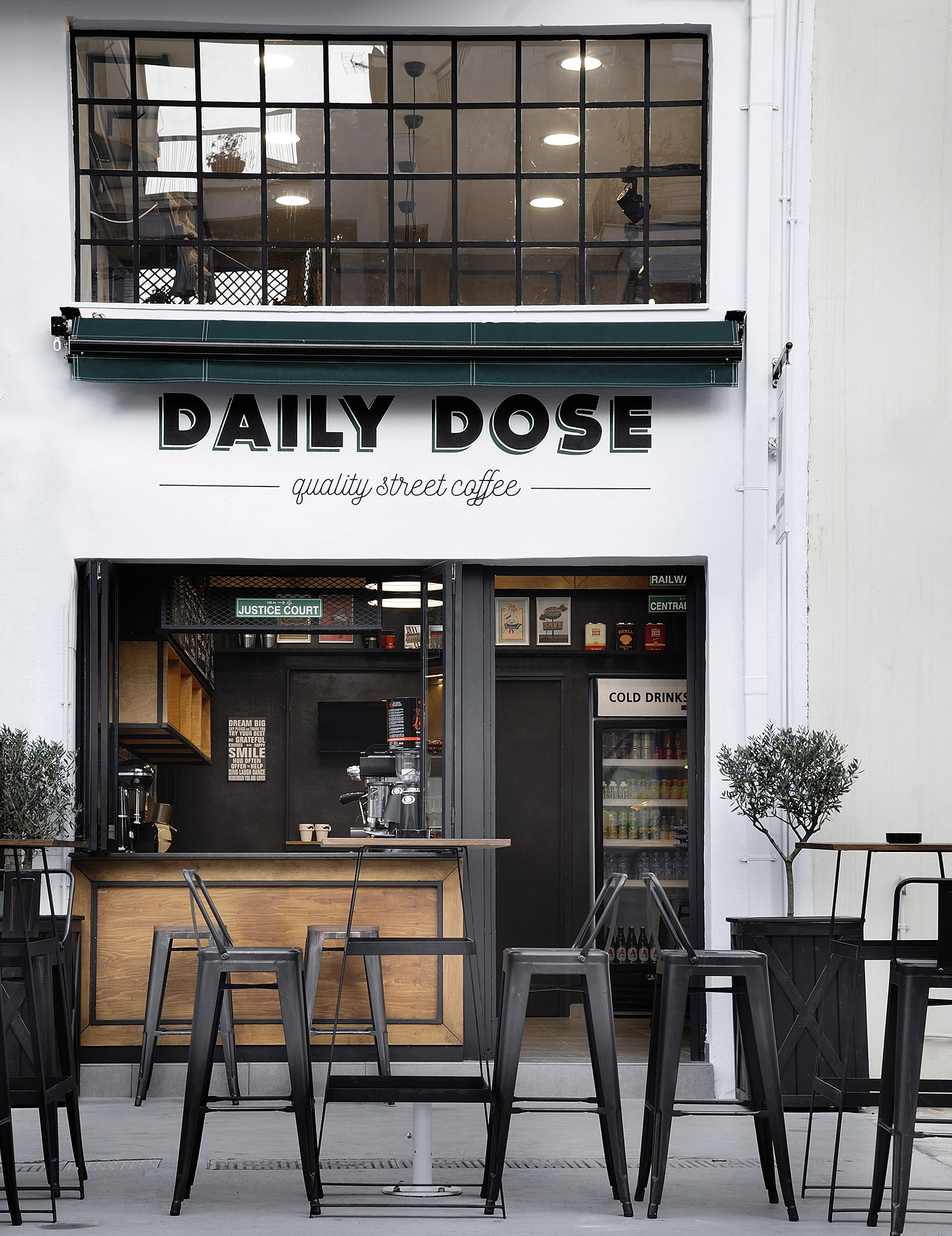 Daily dose by andreas petropoulos greece gigantic for Small shop exterior design