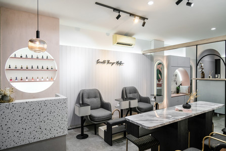 Two Cents , Rethinking stereotypes of beauty shops aesthetic by  Co+in Collaborative Lab