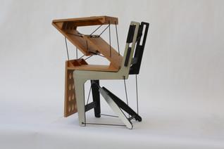 Tensegrity experimental chairs designed by Konstantin Achkov presented at Venice DesignBiennial 2021