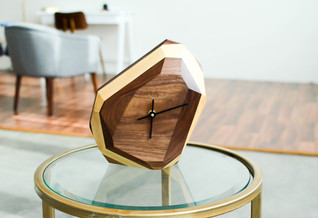 Geometric Wall and Table Clock by The Iron Roots Designs