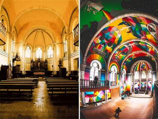 A Church transformed into a Skate-park