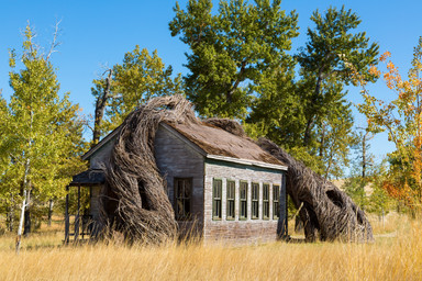 """Daydreams"" School House at Tippet Rise Art Center, Fishtail, Montanta, by Cushing Terrell"