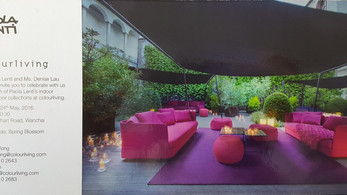 Paola Lenti's indoor and outdoor collections at colourliving, Hong Kong