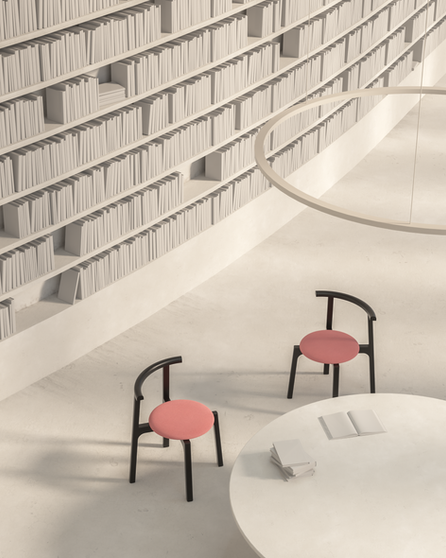 Carlo, the new stackable chair by Missana, a perfect harmony of straight and curved lines