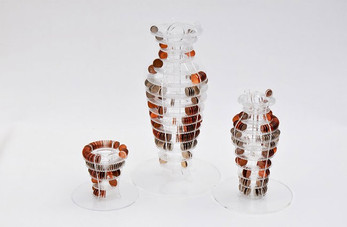 Clear Acrylic Structures to be Completed With Coins