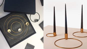"""""""Orbital"""" candleholder collection by Alain Gilles"""