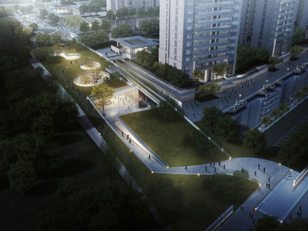 Greentown · Young City Experience Pavilion   Fusion of Nature and Curves