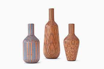 Intricate Vases Made From Hundreds Of Pencils