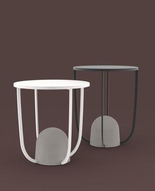 W8 Side tables by Alain Gilles for Ligne Roset