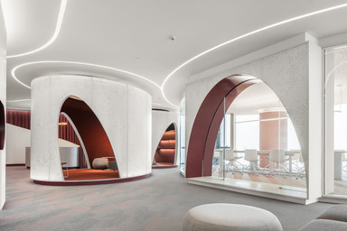 New Silk Road Office — A space where colour palette coordinates with form by HONG Designworks