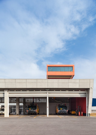 The Fire Fighting Section of the International Airport of Guarulhos by MM18 Arquitetura