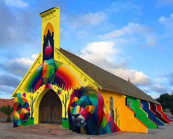 Abandoned Church Transformed With Colorful Graffiti In Morocco