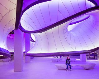 Mathematics Gallery inside London Science Museum by Zaha Hadid Architects