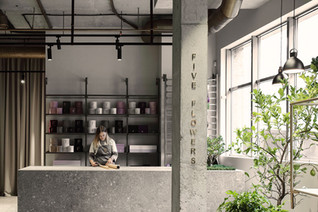 NOTTDESIGN designed a new flower store in Dnipro