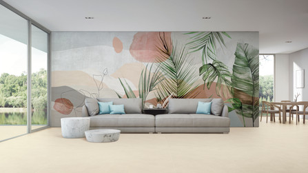 Juliana Medeiros creates 'Nuances da Natureza' - Coverings and Wallpapers inspired in Candid