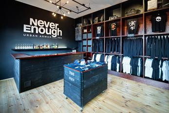 NeverEnough Black Box Store by studio minio
