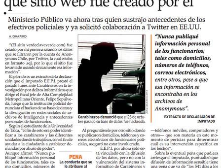 Imputado por difundir datos hackeados de Carabineros reconoce que sitio web fue creado por él